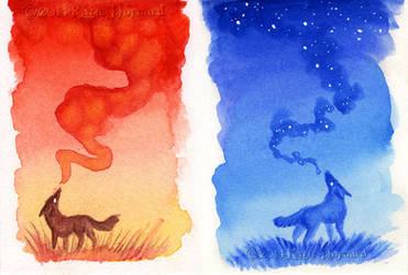 Tiny Sky Howls by KatieHofgard