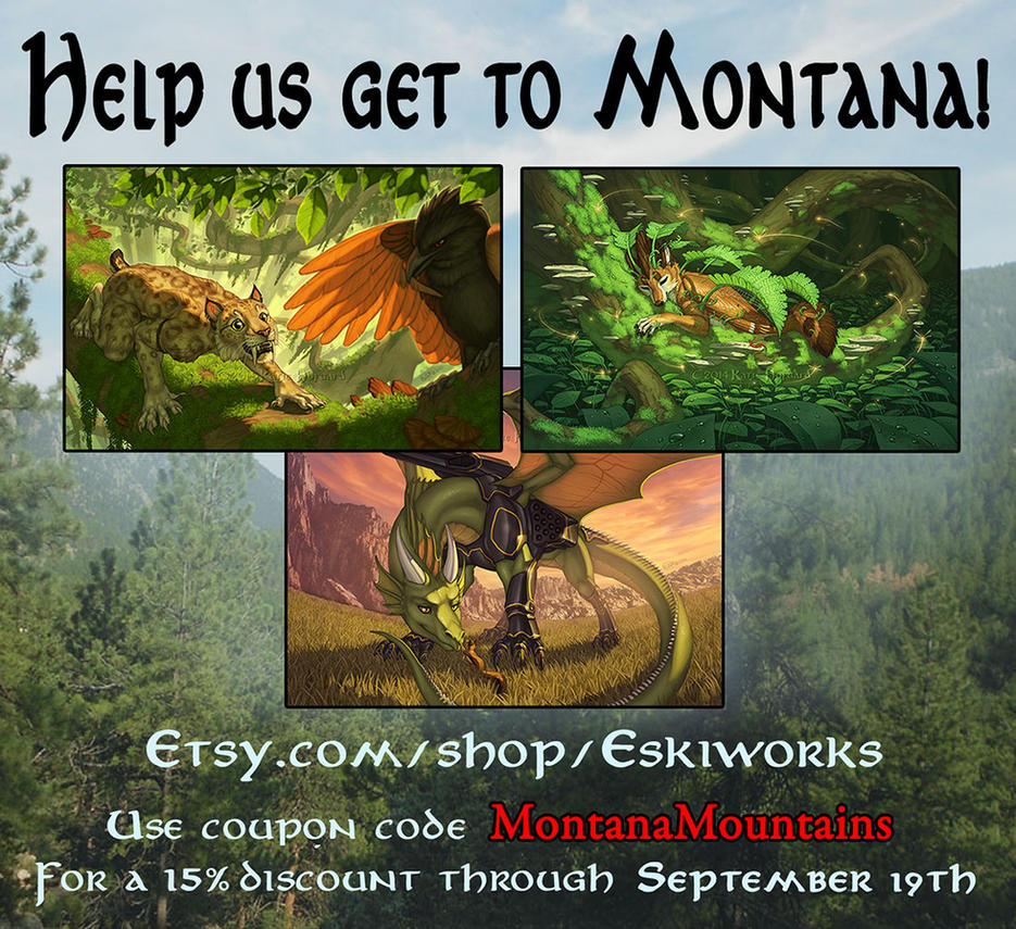 Help us get to Montana - Print Sale! by KatieHofgard