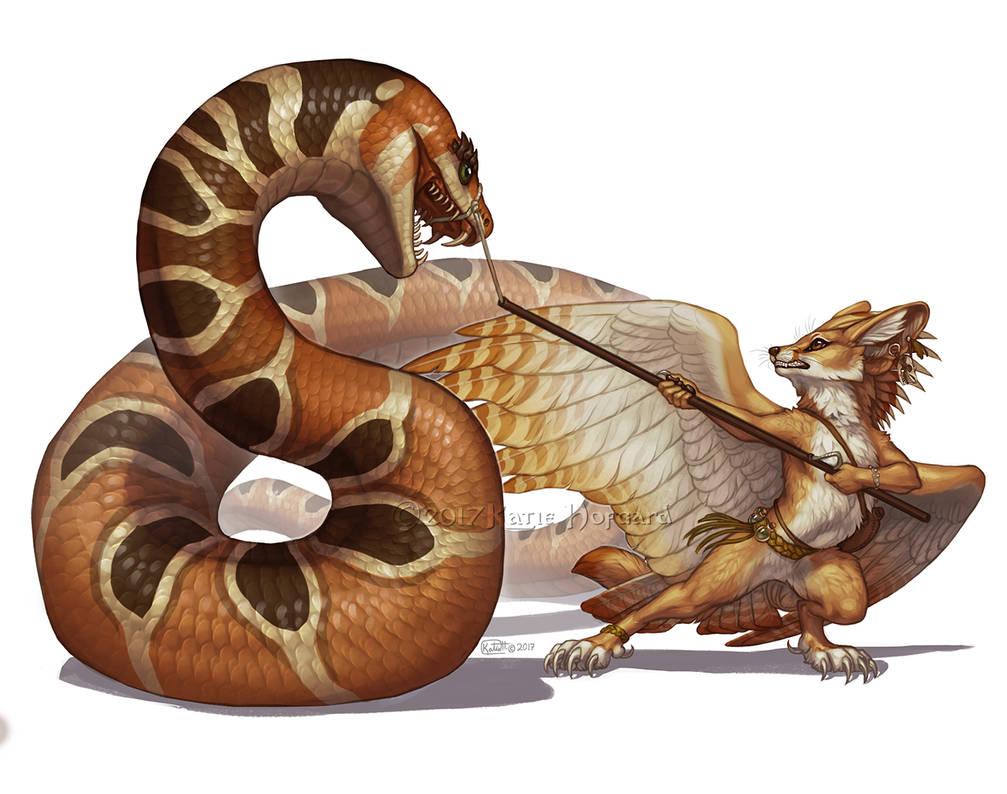 TeaFeathers - Sa'Dimali Snake Wrangler by KatieHofgard