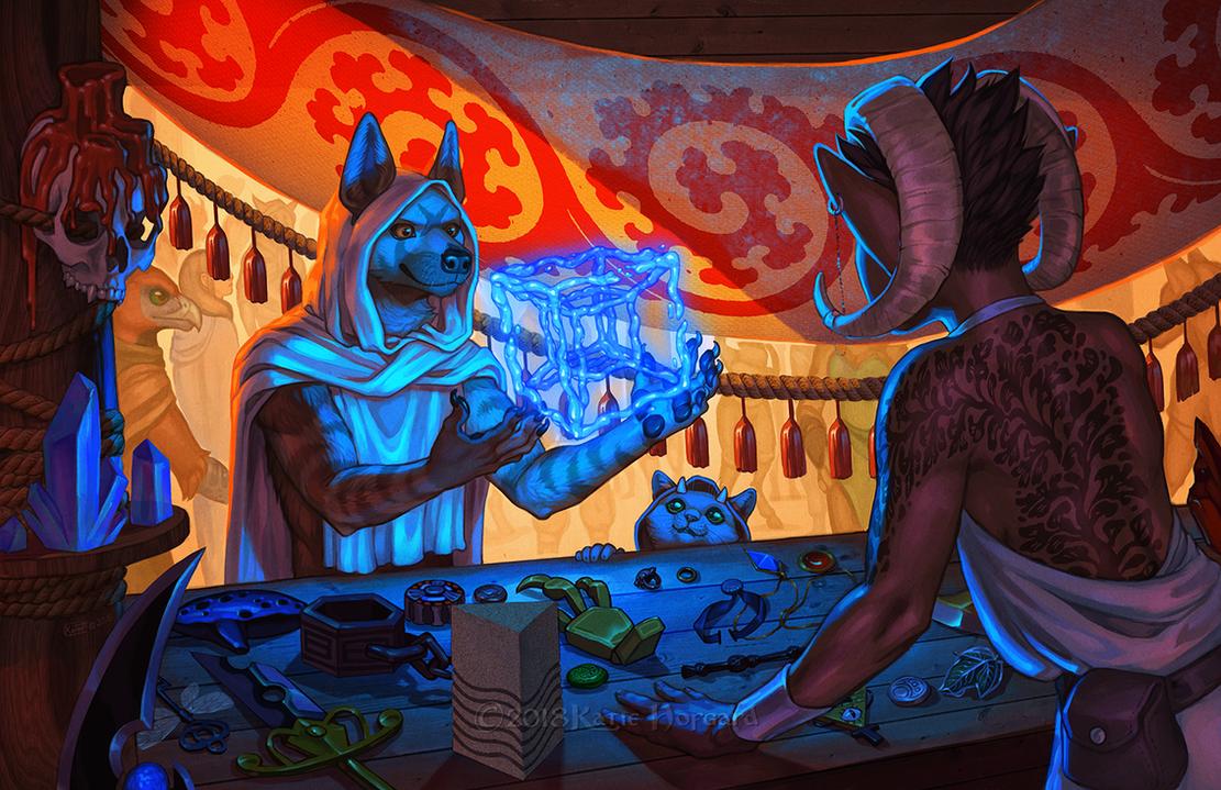 Trading the Aqua Tesseract by KatieHofgard