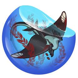 Manta Dragon Bubble by KatieHofgard