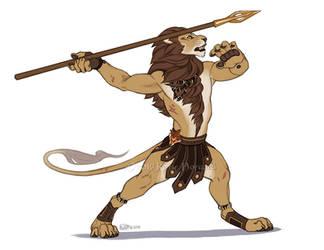 TeaFeathers Historical Figures - Spearmaster Okoje by KatieHofgard