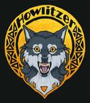 Howlitzer Deluxe Gold Halo Badge