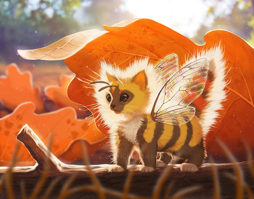 KittenBee in Autumn