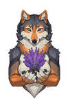 Lavendar Wolf Sprout Portrait