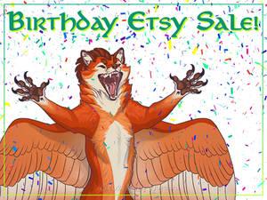 Birthday Etsy Sale