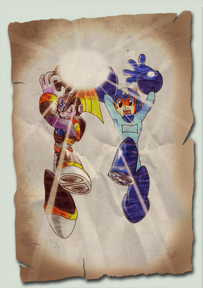 ... EiGhT YeArS AgO...MeGaMaN by GACHY-CELTA