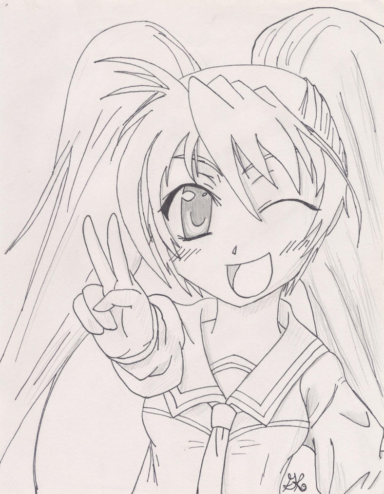 anime peace sign by ninjakittyartist on deviantart