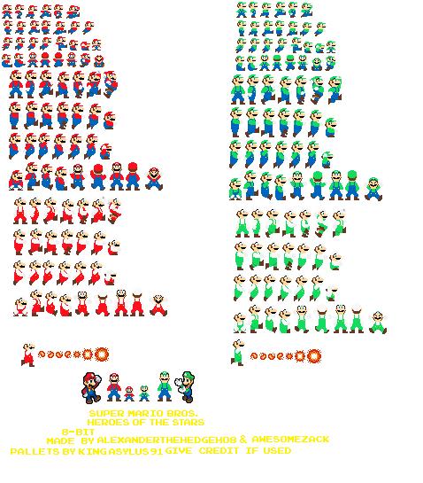 Group of Super Mario Bros 8Bit