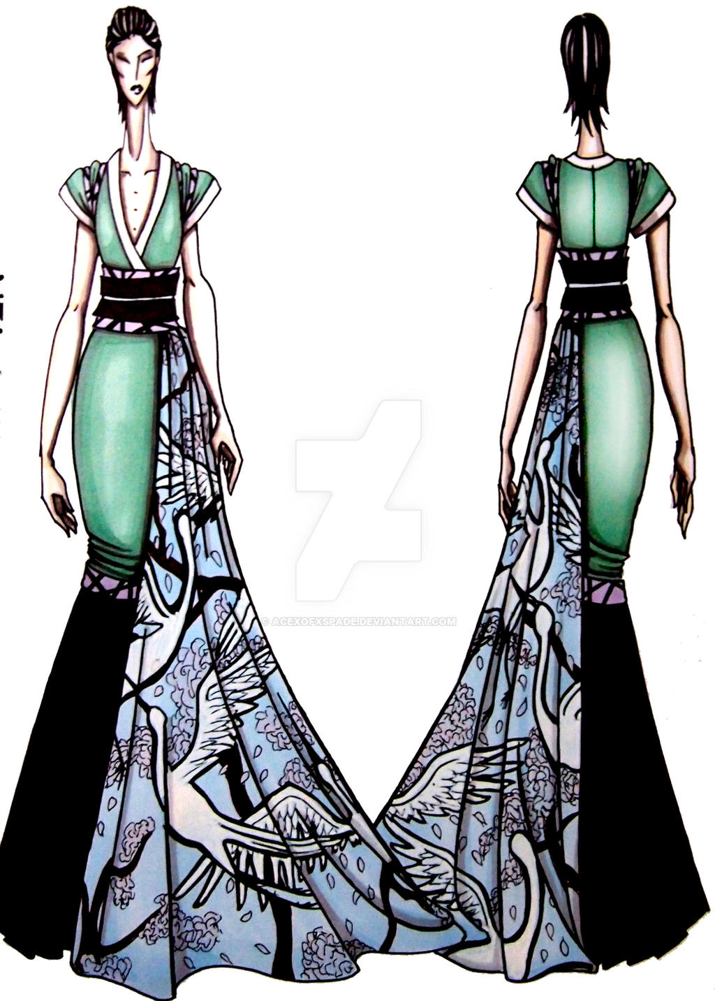 japanese inspired dress by acexofxspade on deviantart
