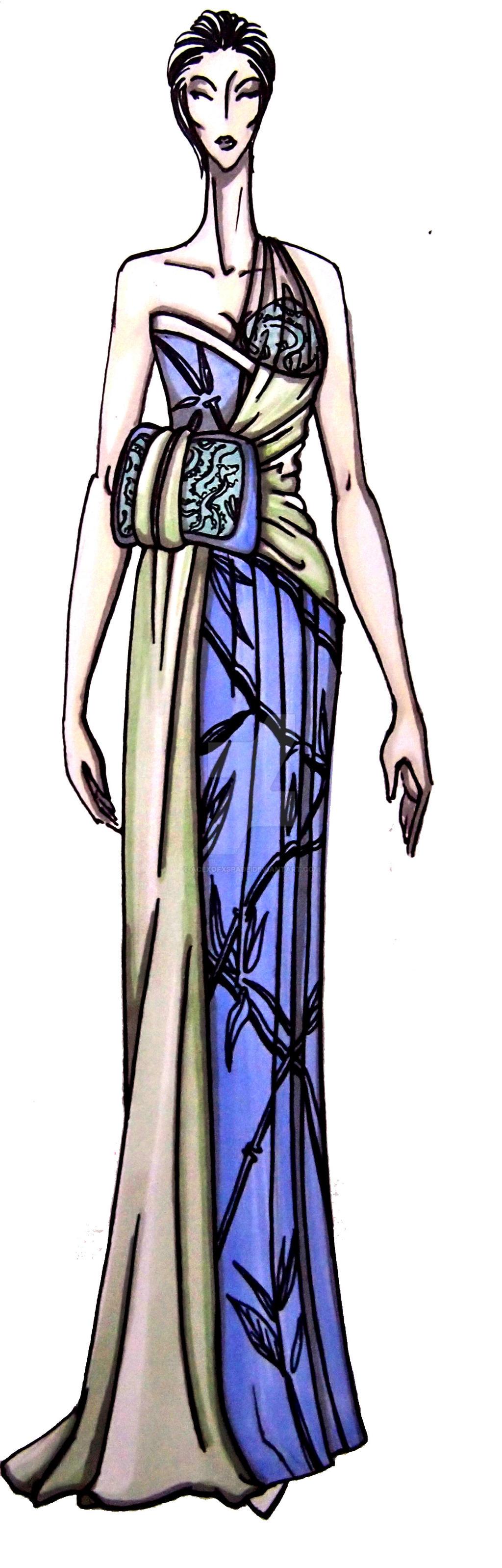 japanese inspired dress n2 by acexofxspade on deviantart