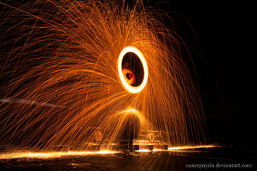 Fiery steel wire