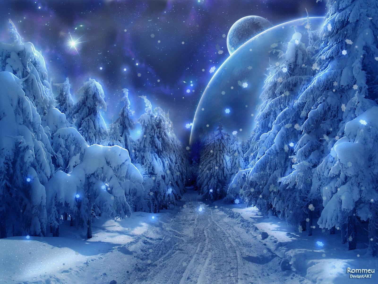 Sky in Snow by Rommeu