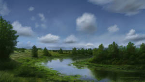 Landscape #1 (iPad art) by S-Lebedev