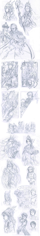 Chesstalia sketches by Raax-theIceWarrior