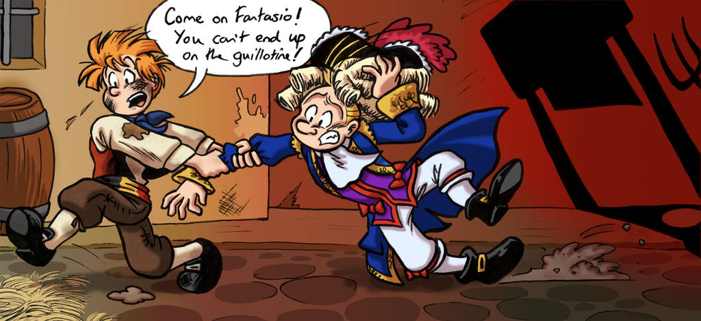 Spirou and Fantasio in the French Revolution by Raax-theIceWarrior