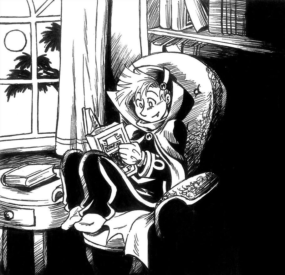 Lil Vampire Spirou by Raax-theIceWarrior