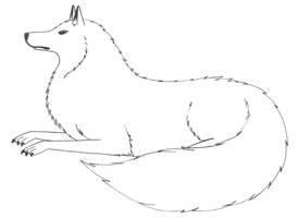 Dog-Wolf Outline