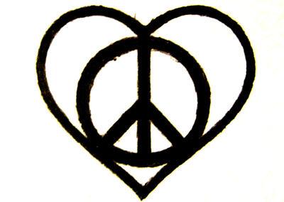 peace heart tattoo design by lovergurl on deviantart. Black Bedroom Furniture Sets. Home Design Ideas
