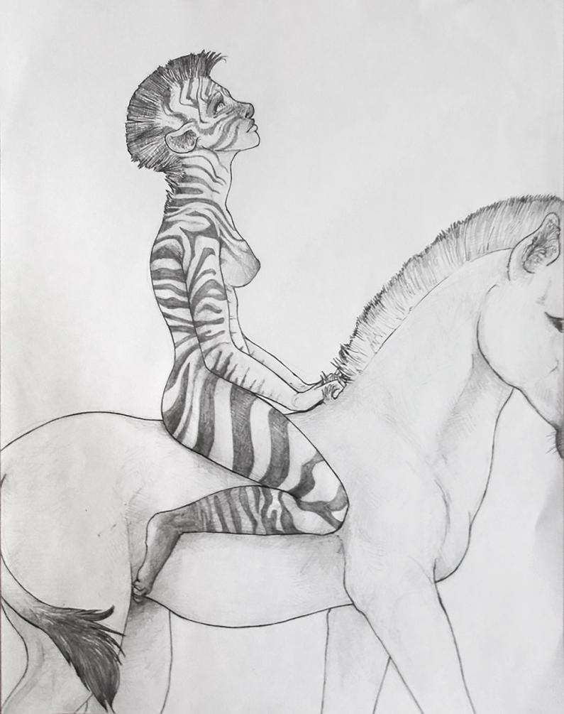 Striped Lady, White Zebra by TheNeverEndingPit