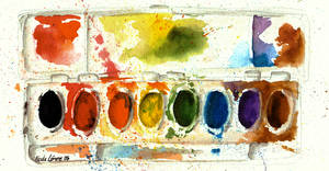 Watercolor Palette by furide-chan