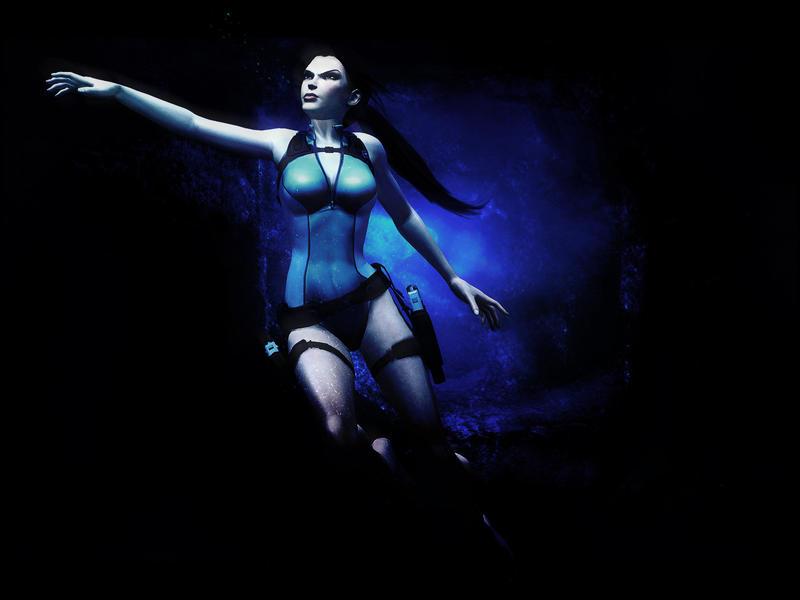 Tomb Raider Underwater by Halli-well