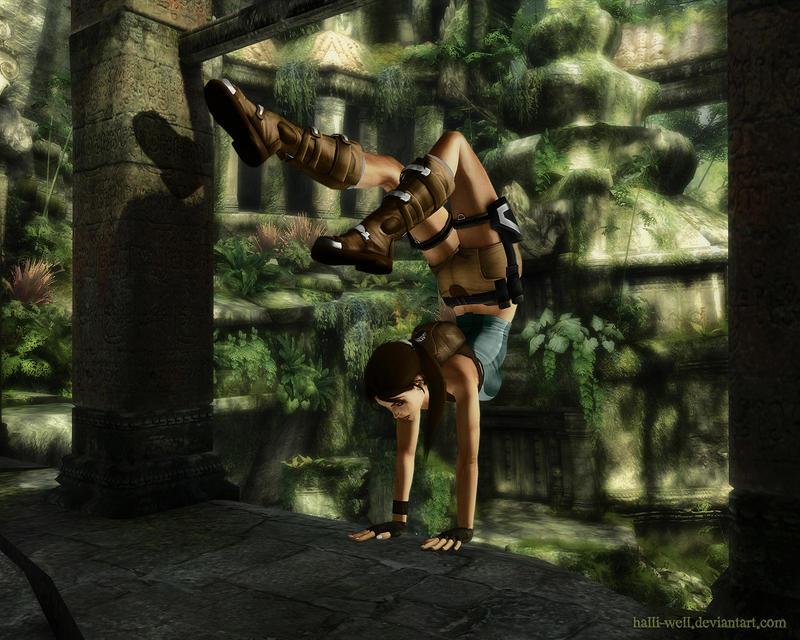 Lara Croft - Climb by Halli-well