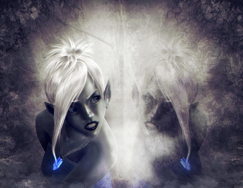 Dark Elf Reflection by Halli-well