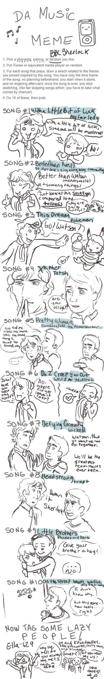 Music Meme- BBC Sherlock by dacoolcat