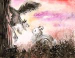 Squrelldog carries an axe of war by ShadowOfLightt