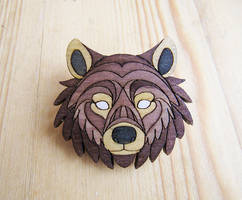 Bear wooden pins