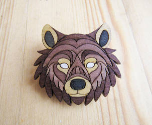 Bear wooden pins by ShadowOfLightt