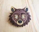 Bear wooden pins by ShadowOfLightt