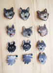 Fool woofs | Stupid wolves | funny wolf wooden pin