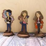 Life is strange figurines handpainted by ShadowOfLightt