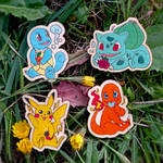 Pokemon wooden pins or magnets