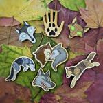 Wolfwalkers wooden pin | magnet | keychains | set by ShadowOfLightt