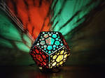 Dodecahedron wooden lamp by ShadowOfLightt
