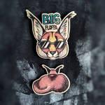 Big Floppa and big butt wooden pin or magnet by ShadowOfLightt