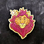 Lion Topaz wooden pin commission by ShadowOfLightt