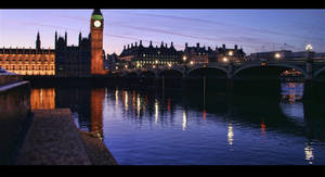 Thames at Dusk HDR by d3lf