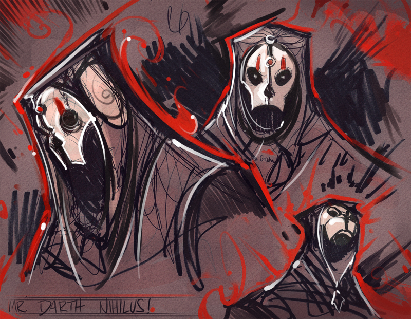 Mr. Darth Nihilus Roughs by frogbillgo