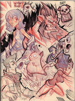 Random Sketch Page by frogbillgo