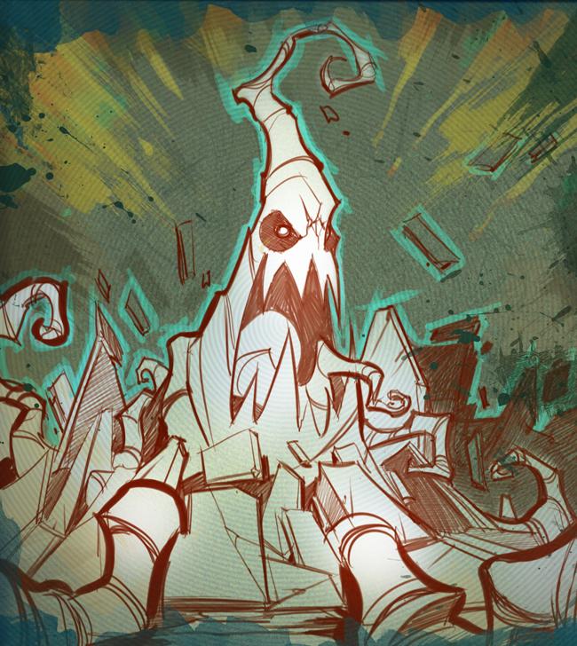 Sacred Seasons 2 Root Monster by frogbillgo