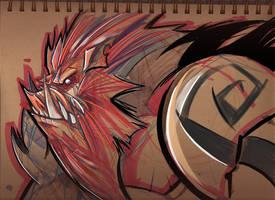 Boar Sketch by frogbillgo
