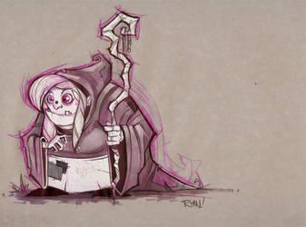 A Friendly Witch by frogbillgo