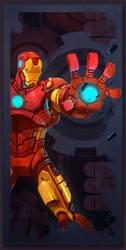 Avengers Card Iron Man by frogbillgo