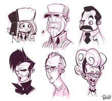 Faces by frogbillgo