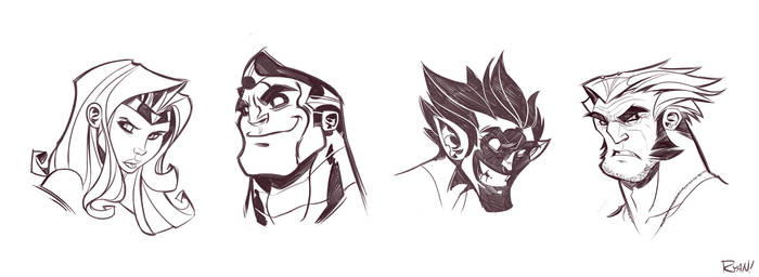 X-Men Sketches by frogbillgo