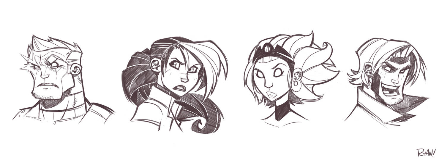 X-Men Sketches Round 2 by frogbillgo
